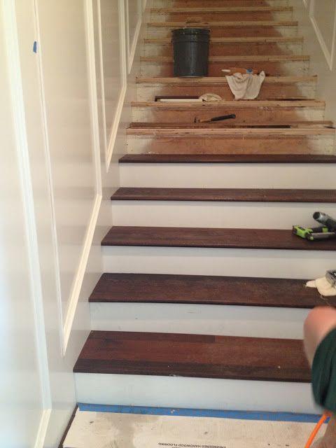 Best White Riser Dark Wood Stair Diy Pinterest 400 x 300