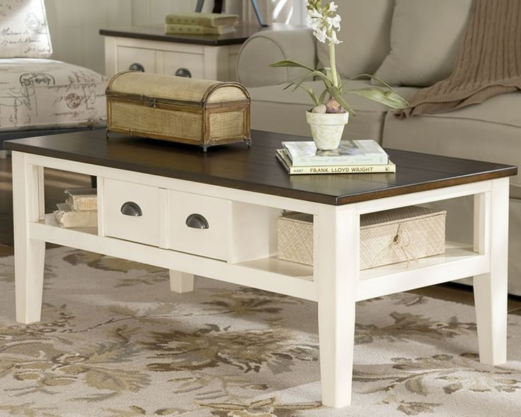 20 Cottage Style Two Tone Coffee Table T583 Ashley