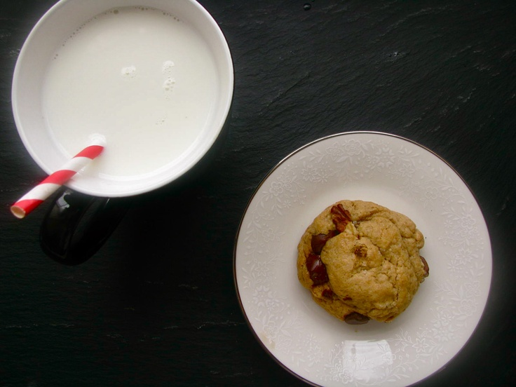 ... Dark Chocolate Chip, Pecan, and Olive Oil Cookies with Sea Salt
