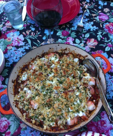 oven-roasted shrimp with tomatoes, fennel and feta l Sweet & Savory ...