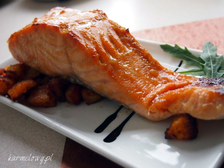 Grilled salmon with honey-mustard glaze | Platos ppales | Pinterest