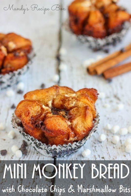 ... Recipe Box: Mini Monkey Bread with Chocolate Chips & Marshmallow Bits