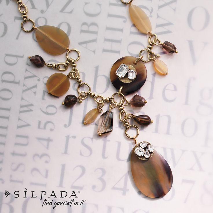 Wanderlust Necklace: #Silpada's Kelsey & Ryane Collection   #Swarovski crystal and horn