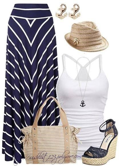 Nautical/Beachy outfit on polyvore