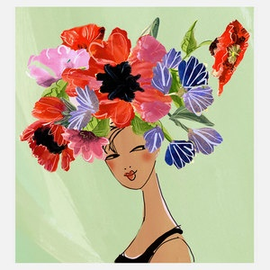 Flowerhead 4 9x12  now featured on Fab.