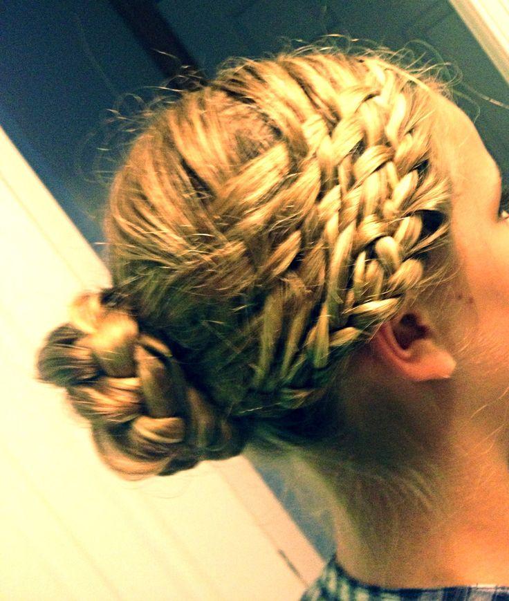 beach curl hairstyles : Basket weave bun hairstyle Hair Pinterest