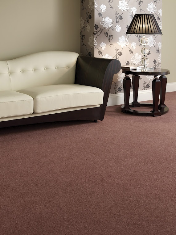 Carpet by Victoria Carpets - lovely shade of red!