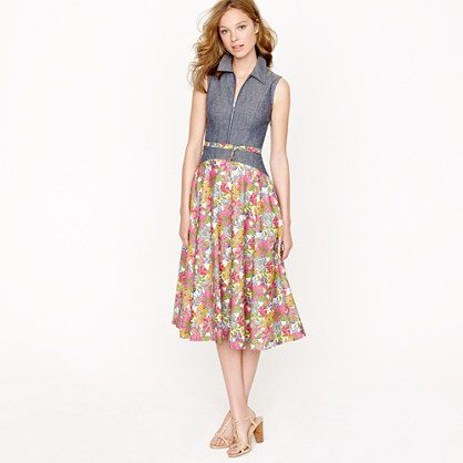 Liberty goes modern. Creatures of the Wind for J.Crew sleeveless zip dress