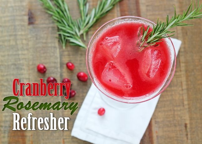 Cranberry Rosemary Refresher | food | Pinterest