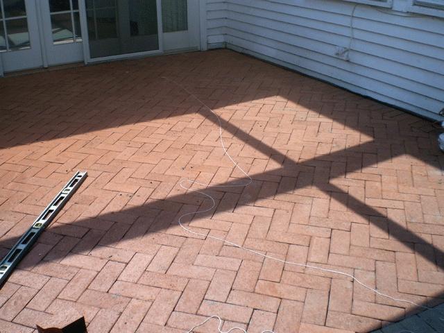 brick patio herringbone outdoor living