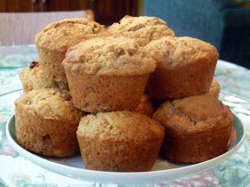 Golden Raisin Oat Bran Muffins | For the Love of Food! | Pinterest