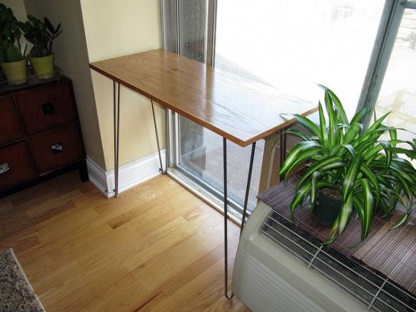 custom-built hairpin leg table