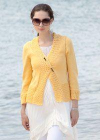 Free Patons knitting pattern: ladies cardigan