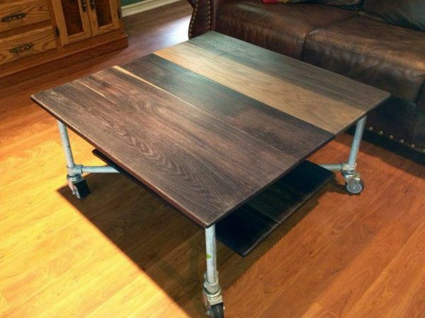 Rolling Coffee Table Top View Pipe Furniture Pinterest