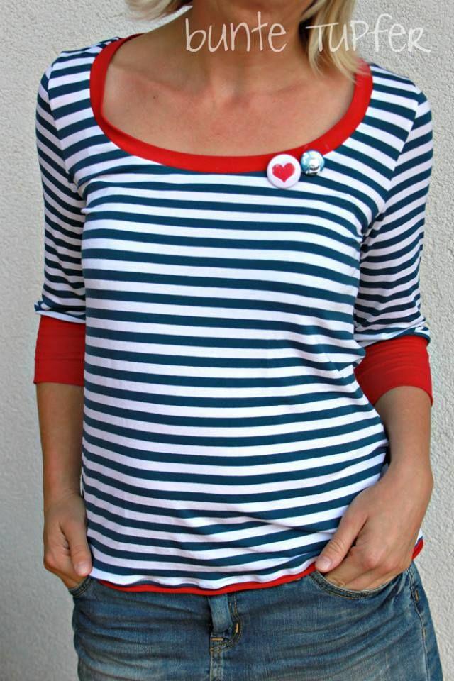 T-shirt Gestalten Schweiz: Freebook T shirt Damen