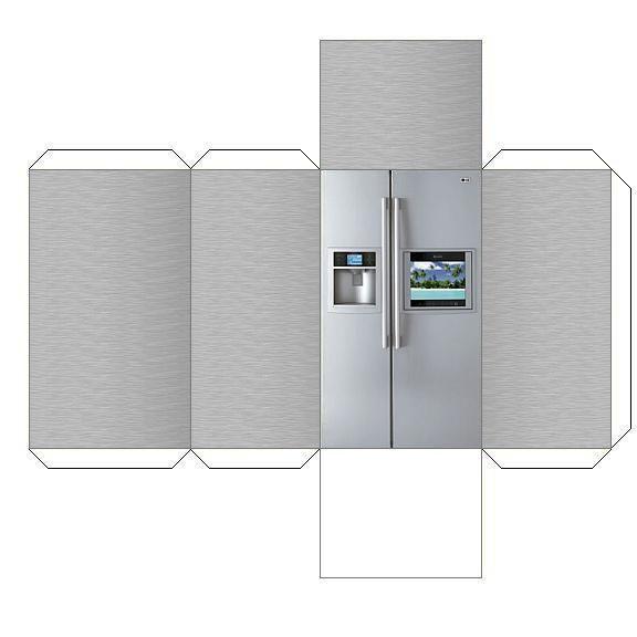 Холодильник из бумаги поделка 8