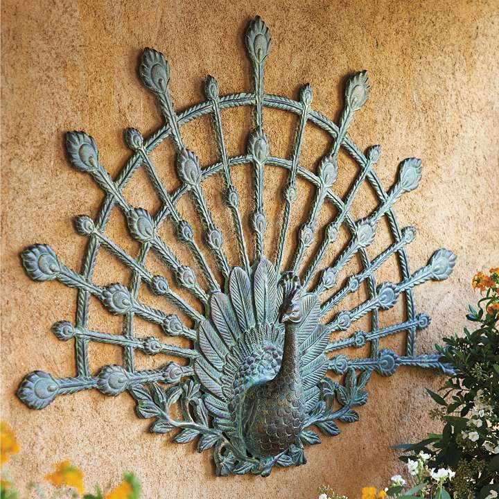 peacock outdoor wall art frontgate