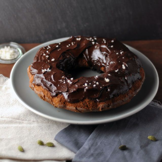 Spiced Whole Grain Chocolate Cake with Salted Chocolate Frosting from ...