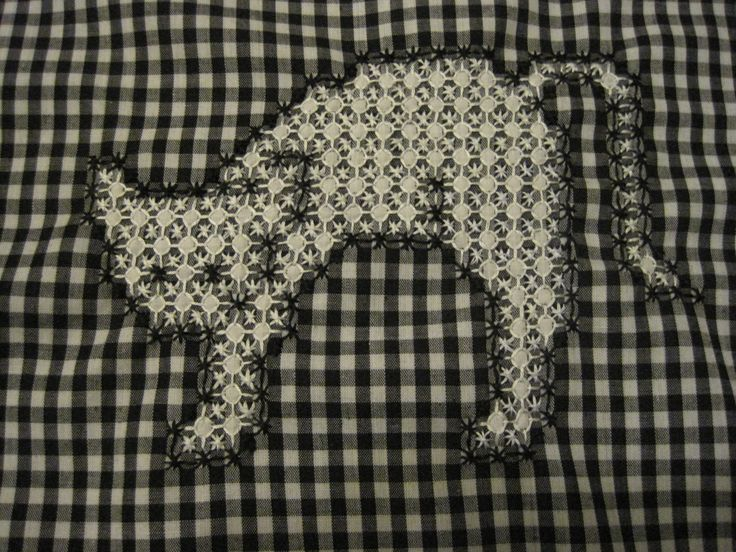 Gingham embroidery crafty needle work chicken scratch