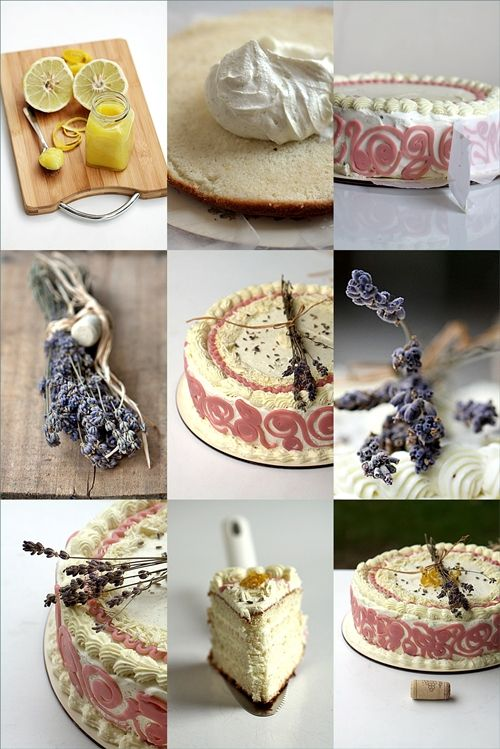 Lavender Chiffon Cake with Whipped Lemon Curd Frosting by passionate ...