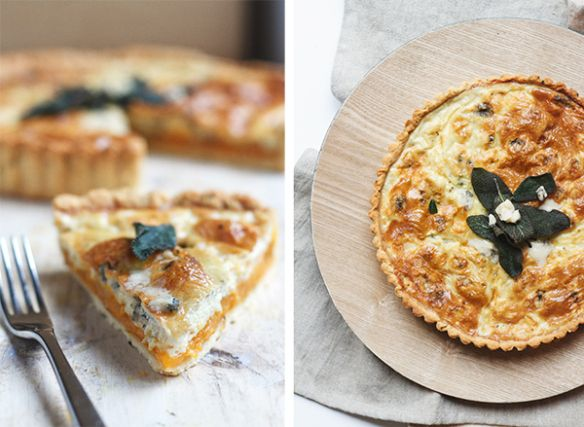 Pumpkin and Gorgonzola quiche | Food for thought | Pinterest