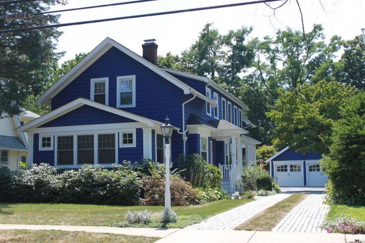 Blue exterior color homes i love pinterest - Exterior blue paint set ...