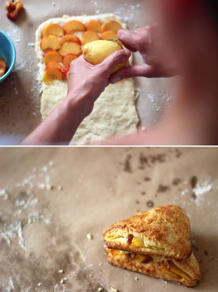 Peach cobbler scones! What a wonderful idea :)