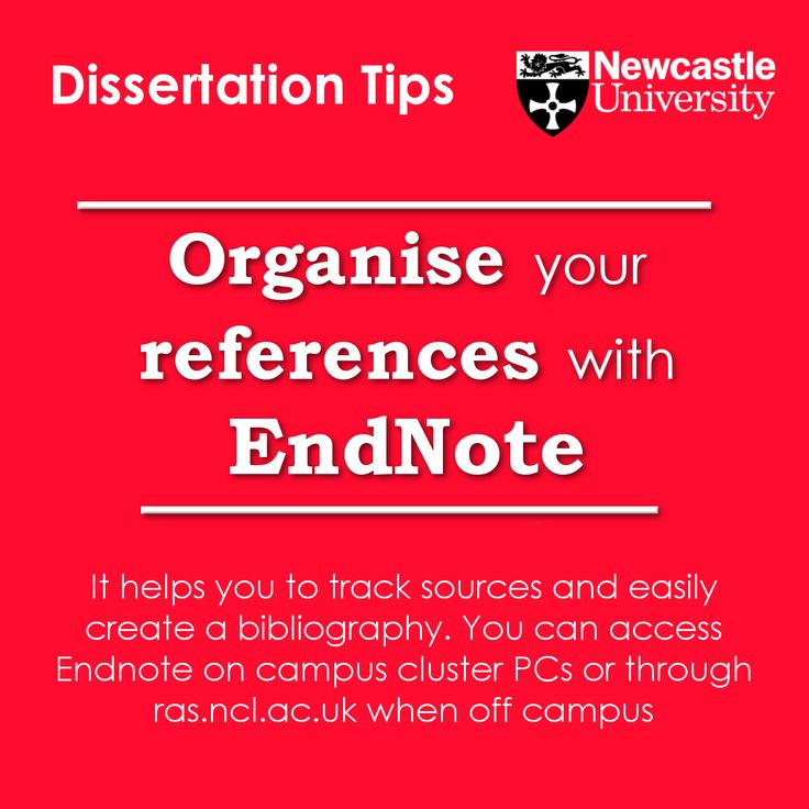 organise dissertation notes