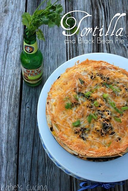 Tortilla & Black Bean Pie #Vegetarian | Dinner | Pinterest