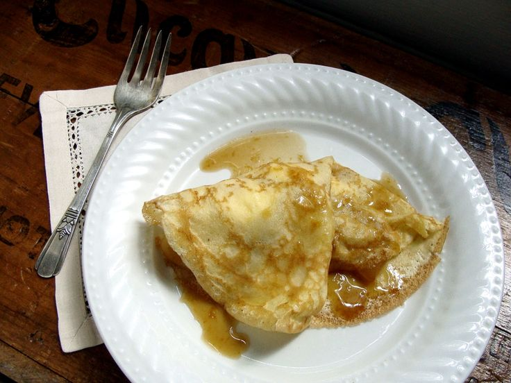 Brown Butter Apple & Ricotta Crepes with Caramel Sauce recipe from ...