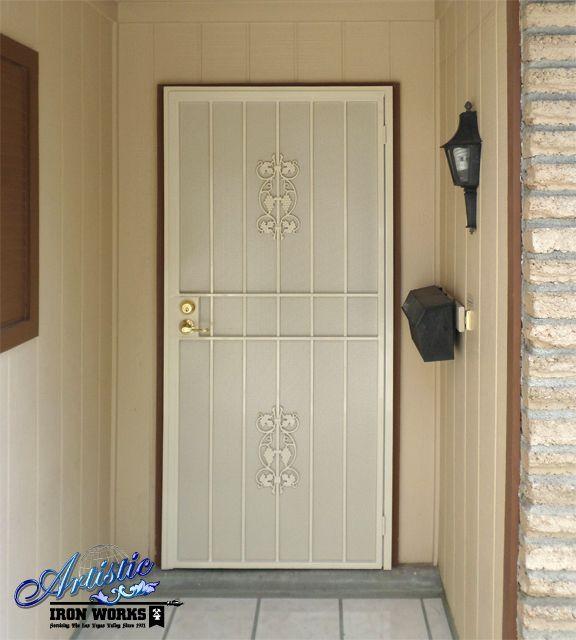 Wrought iron security door wrought iron security doors for Wrought iron security doors