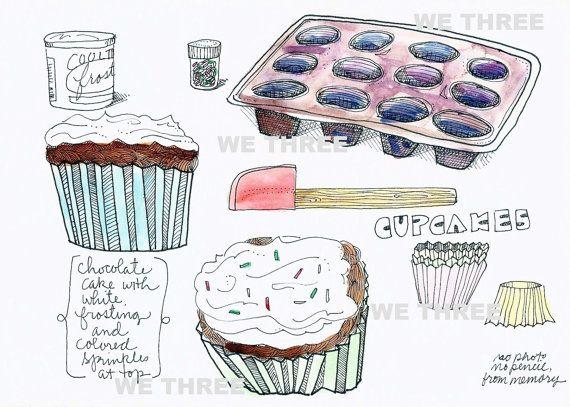 Cupcakes Home Decor Kitchen Art Food Dessert