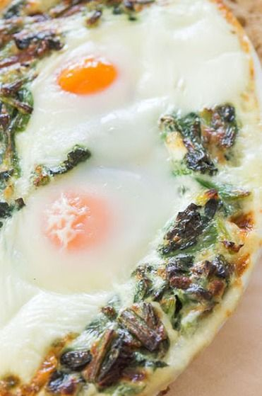 Baked Eggs in Creamed Spinach | Eggcellent. | Pinterest