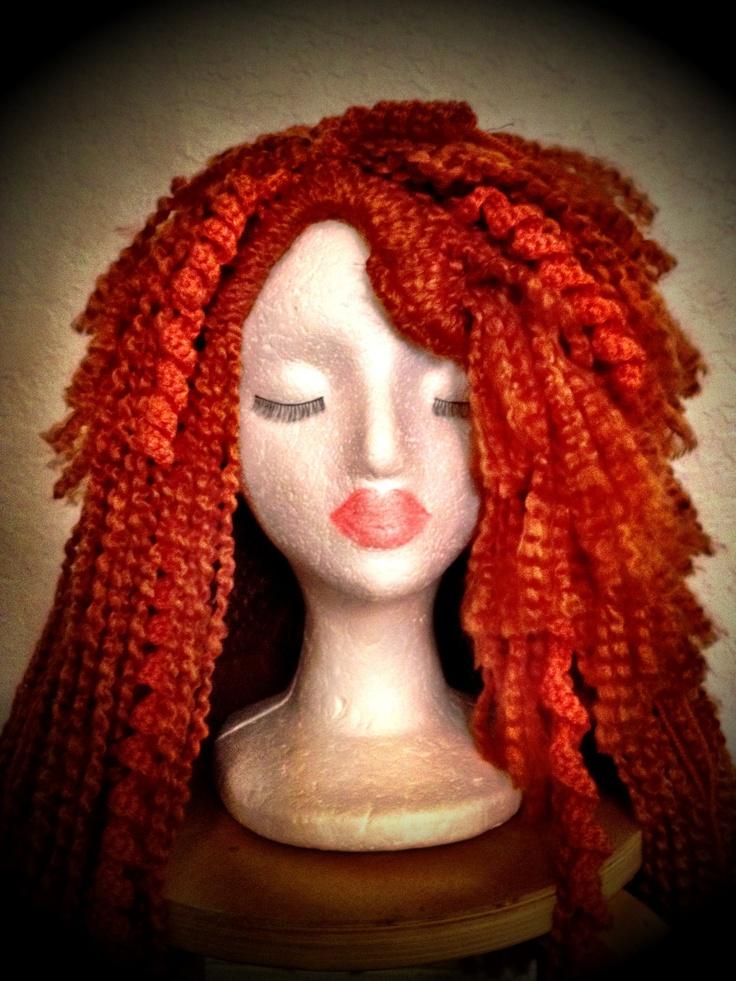Crochet Wig : ... Pixar Princess Merida inspired Crohet Hat / Wig. $130.00, via Etsy