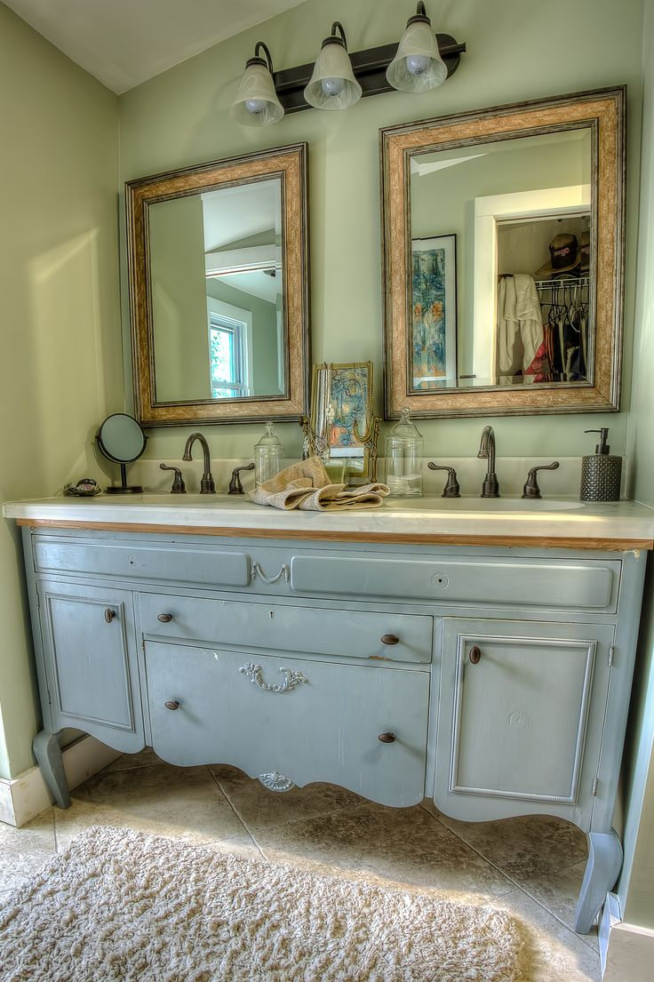 Nice Repurposed Vanity Bathroom Remodel Ideas Pinterest