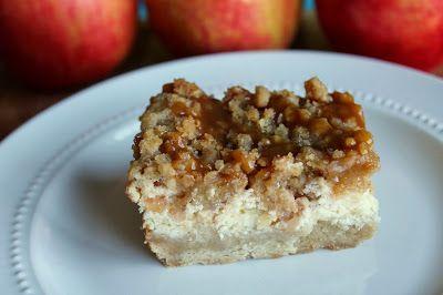 Caramel Apple Cheesecake Bars | Food Gawking | Pinterest