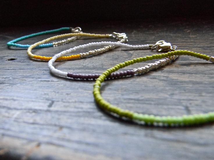 Bright, summery bracelets