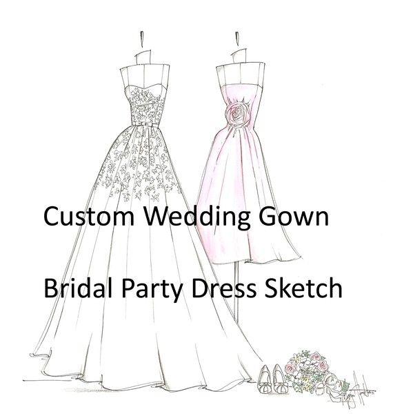 explore wedding dress sketches