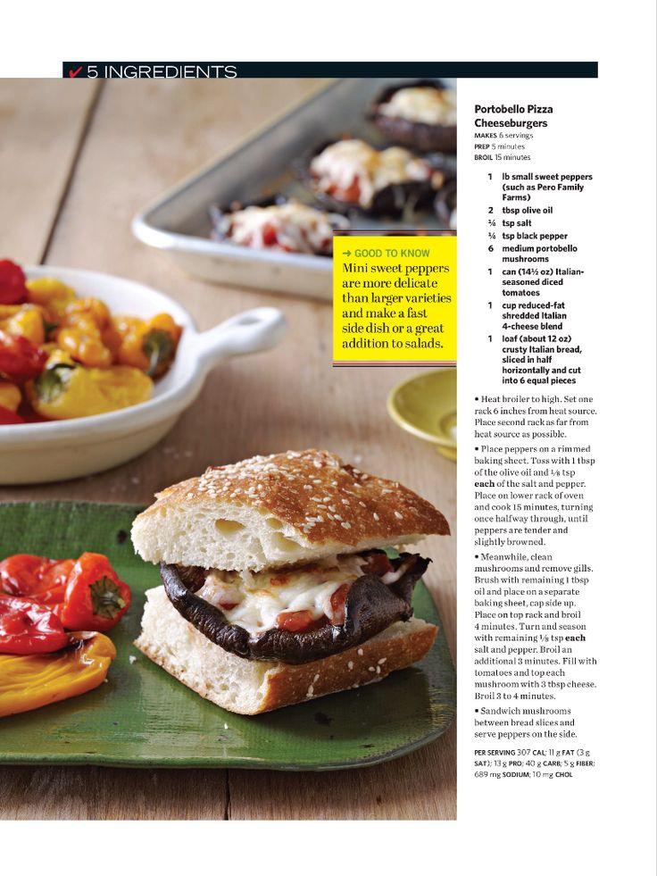 Portobello Pizza Cheeseburgers | Recipes to try | Pinterest