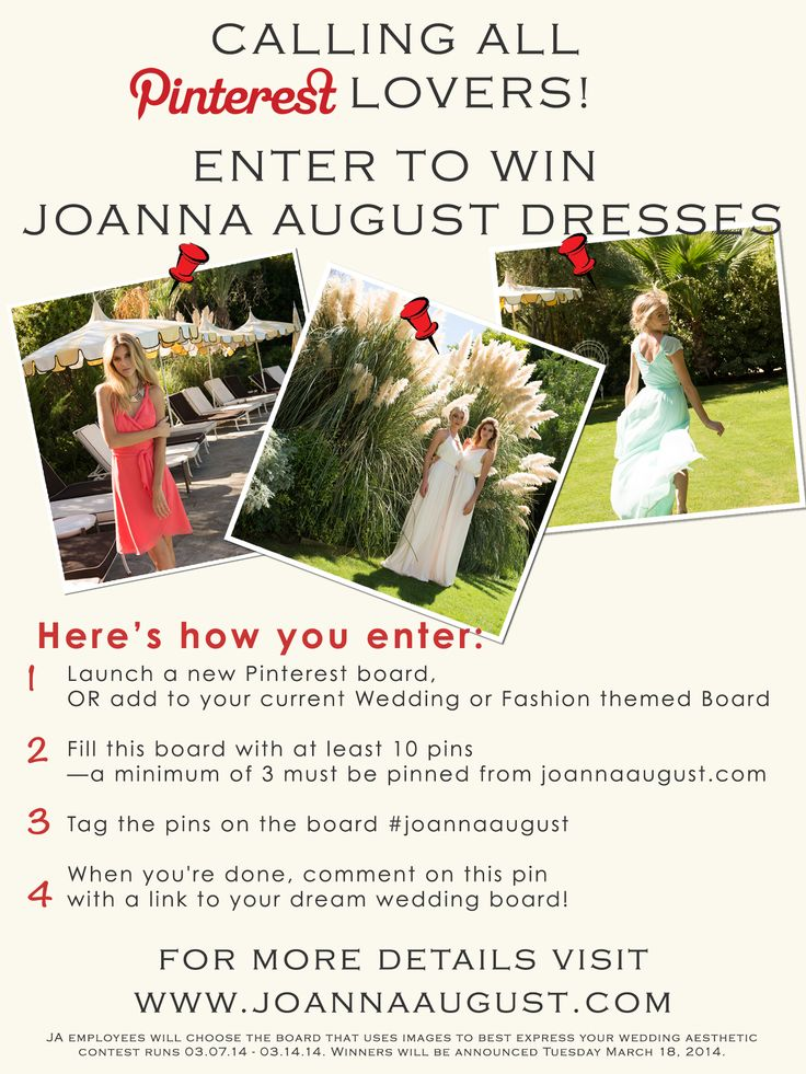 Enter our contest for your chance to win Bridesmaid Dresses!