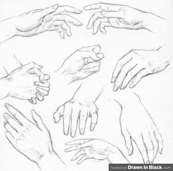 dibujar manos, saludo, agarre, interactuando