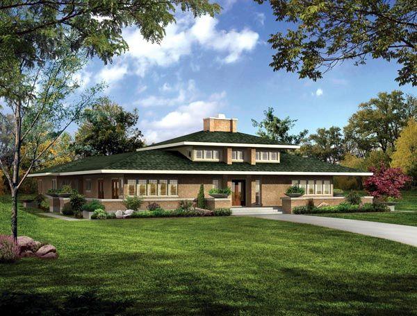 Craftsman Prairie Style Southwest House Plan 90271
