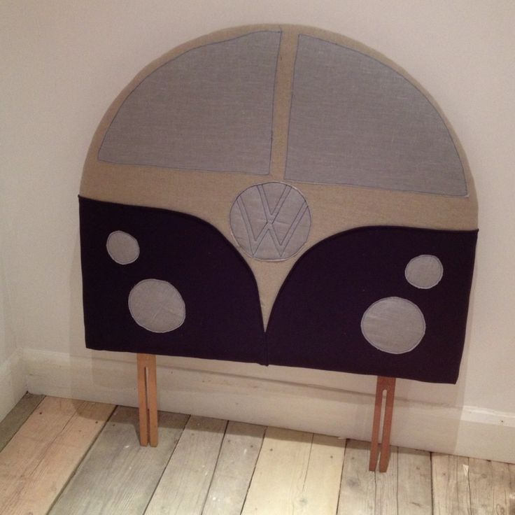 Here is a vw camper headboard i ve just finished for my boys bedroom
