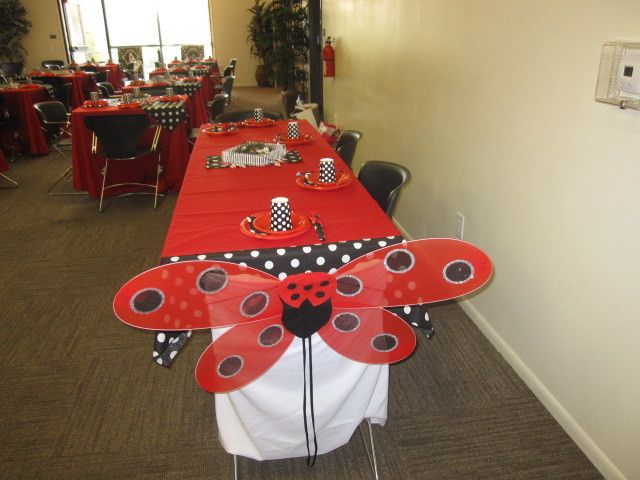 ladybug baby shower party ideas photo 6 of 28