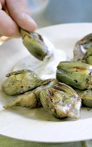 Recipe: Grilled Artichokes with Meyer Lemon Aioli - Recipelink.com