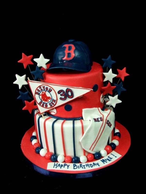 Red Sox Cake just for fun Pinterest