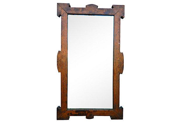 Antique arts amp crafts style stencilled mirror