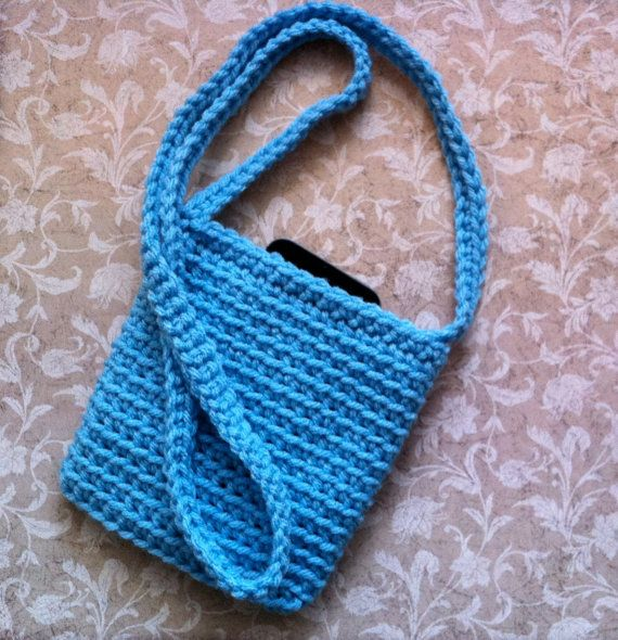 Crochet Cell Phone Purse : Crochet Mini Tote Small Purse Cell Phone by KathysYarnCreations, $7.00