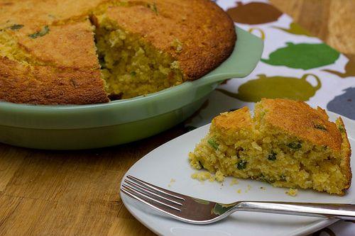 Fresh corn, basil and jalapeno cornbread | YUM BREAD! | Pinterest