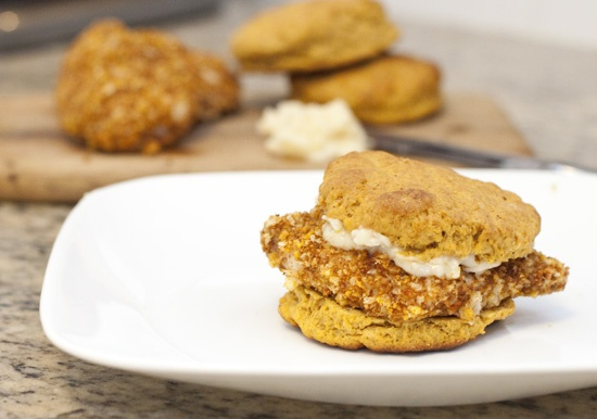 ... pecan chicken and sweet potato biscuit sandwiches with maple butter